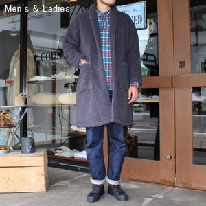 HARVESTY ボアフリースガウンコート BOA-FLEECE GOWN COAT A51706 (CHARCOAL)