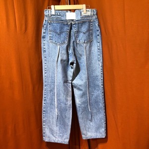 Back Rubber Line Denim Pants    Color : type F