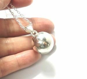 銀の鈴のネックレス 直径17mm
