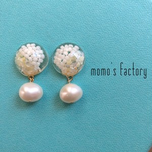 white shell × pearl