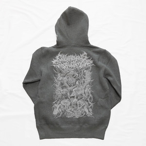 【在庫限り】Gluttonous Creatures Hoodie Heather Gray