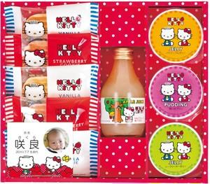 ハローキティ りんごジュース&スイーツセット KIT-15×5個