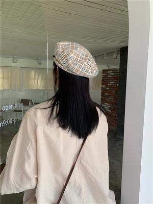 チェックウールベレー帽 【check wool beret hat】