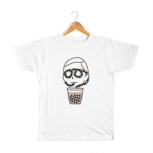 タピオカの人 キッズTシャツ