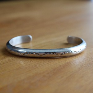 Navajo Sterling Silver TAHE Stamp Bangle
