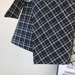 全2色パールベルト付きチェック柄スカート