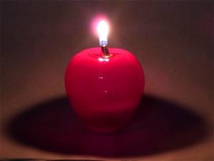 「津軽赤りんご」オイルランプとオイルのセット
