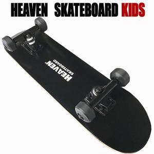 ヘブン 子ども用 ハイスペック コンプリート スケートボード ブラック27×7 選び抜かれた高品質のスケボー