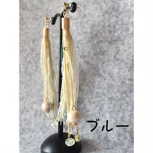 引き揃え糸のタッセル(ショートタイプ)*イヤリング・ピアス