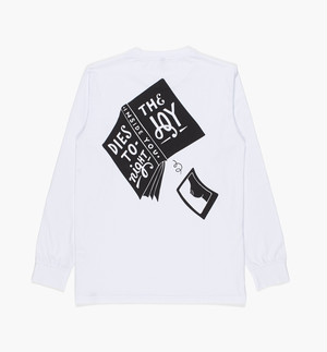 by Parra - long sleeve t-shirt the joy inside (white)
