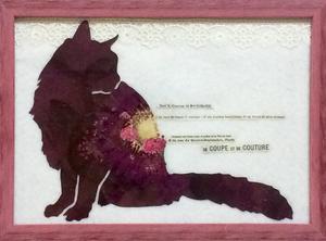 幸せを呼ぶ猫(黒猫・赤)