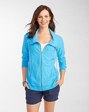 KNOLL FULL ZIP JACKET AF/COMO BLUE