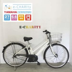 電動自転車 シティ YAMAHA PAS CITY 白 27インチ 【KQ035】【神戸】