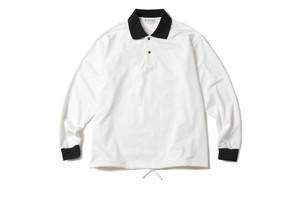RAJABROOKE ASIA / SELESA L/S POLO -WHITE-