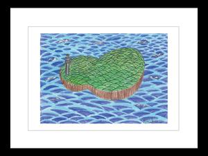 プリント額絵:Saiko作「ひょうたん島」