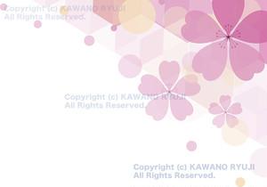 桜の花びらの背景_(aIベクターデータ)