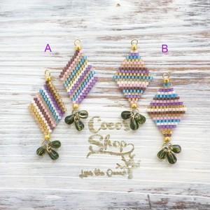 ◆SALE ¥300 OFF◆ Rhombus Oriental Pierce/Earrings Ⅱ