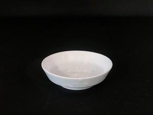 【井上祐希作】釉滴付立皿(小)WHITE