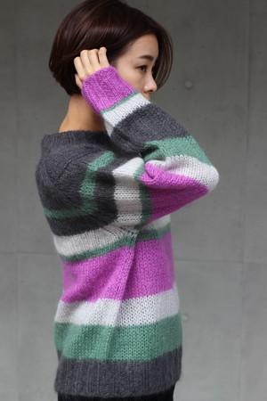 【SAYAKADAVIS】color block sweater