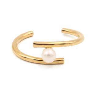 Pearl stainless bangle【LATUA STELLA】