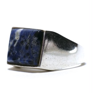 Vintage Sterling Silver Mexican Lapis Lazuli Signet Ring