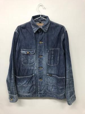 【No. BS602 Color. 07 Indigo Dark】 Mens Selvage Work Jacket
