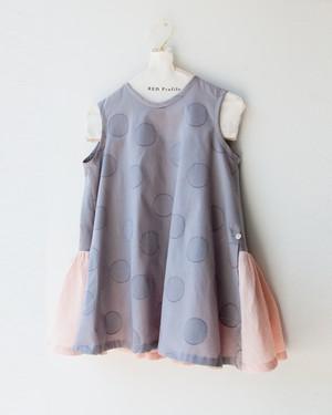 <KIDS> 水玉とピンクのワンピース/size100