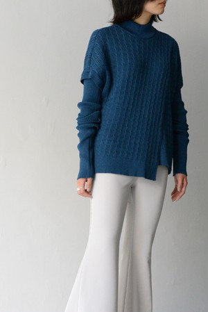 G.V.G.V. / WASHABLE  WOOL  BLEND  CABLE  STITCH  JUMPER