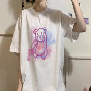 【レディース】ユニコーンベアプリントTシャツ