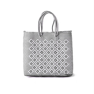 MERCADO BAG ROMBO - White x Silver(S)