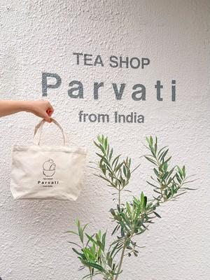 Tea Shop Parvati ロゴ入りランチバッグ