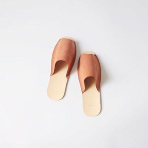 スリッパ Slippers (horse split / brown)
