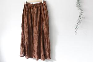 eka::「ヴォイルクリンクル加工スカート」