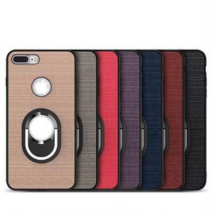 ファブリック スタンド カーホルダー iPhone シェルカバー ケース ブラック グレー レッド ピンク ブルー ブラウン パープル ★ iPhone SE / 5 / 5s / 6 / 6s / 6Plus / 6sPlus / 7 / 7Plus / 8 / 8Plus ★ [MD212]