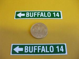 標識「ブリキ製「BUFFALO14」(2枚セット)」屋外可・送料無料