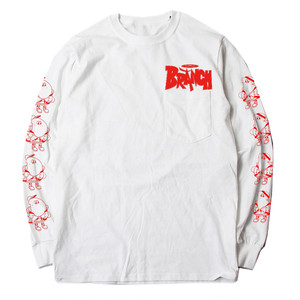 BRANCH L/S T-SHIRTS(WHITE×RED)