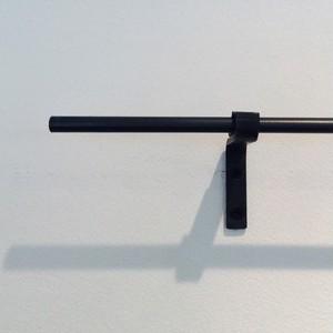 [~900mm]9mmφ シングルアイアンカーテンレール(送料無料・部材込)