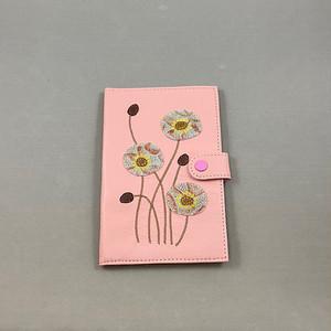 おくすり手帳ケース(ピンク、ポピー柄)No.03007-14