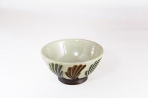 【受注生産対応】クバ結紋 3.5寸 丸茶碗 白