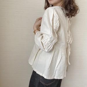 back ribbon blouse[6/17n-12]