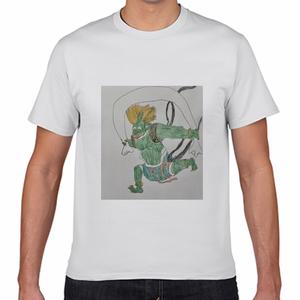 【春先取り価格(〜3/31)】【送料込み】風神 デザインTシャツ(ホワイト・半袖)
