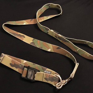 "BYCRUISE MAGNETIC COLLER & LEAD SET MULTICAM®︎ CAMOUFLAGE 1""INCH WEBBING."