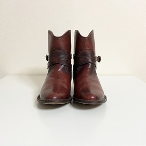 80's Vintage USA【FRYE】Western Short Boots brown 80年代 アメリカ ヴィンテージ【フライ】ウエスタン ショートブーツ 茶色