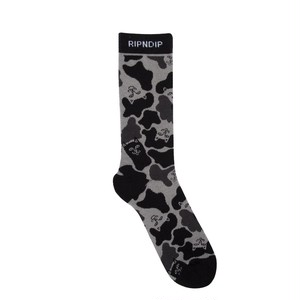 RIPNDIP - Nerm Camo Socks (Blackout Camo)