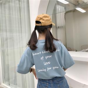 パステルカラー・バックロゴカジュアルTシャツ