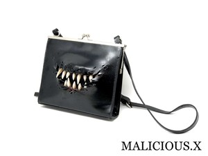 creature square metal clasp shoulder bag