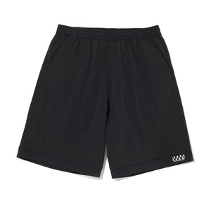 WIDE SHORT PANTS -BLACK