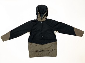 19SS 綿ナイロンプルオーバーマウンテンパーカー / Nylon cotton mountain pullover parker