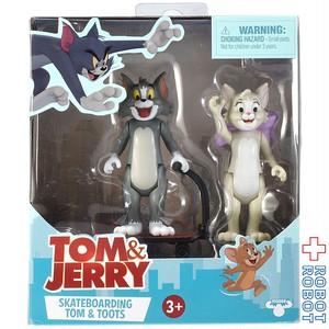 MOOSE トムとジェリー アクションフィギュア 2パック スケートボーティング トム & トゥードルス
