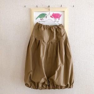 【Nさま専用】たっぷりプリーツのバルーンスカート(丈81cm)ベージュ